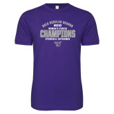 Next Level SoftStyle Purple T Shirt-Womens Tennis Regular Season Champions