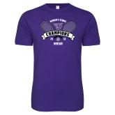 Next Level SoftStyle Purple T Shirt-2018 Womens Tennis Champions