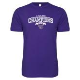 Next Level SoftStyle Purple T Shirt-2018 17 Time NE10 Womens XC Champions