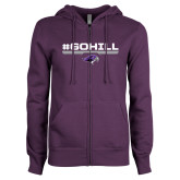 ENZA Ladies Purple Fleece Full Zip Hoodie-#GoHill