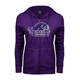 ENZA Ladies Purple Fleece Full Zip Hoodie-Field Hockey