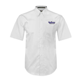 White Twill Button Down Short Sleeve-Stonehill Skyhawks