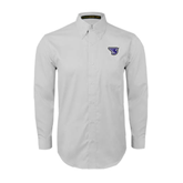 White Twill Button Down Long Sleeve-S