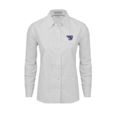 Ladies White Oxford Shirt-S