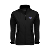 Ladies Black Softshell Jacket-S
