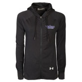 Ladies Under Armour Black Varsity Full Zip Hoodie-Stonehill Skyhawks