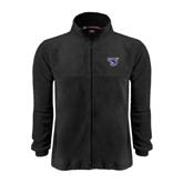 Fleece Full Zip Black Jacket-S