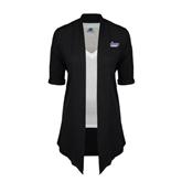 Ladies Black Drape Front Cardigan-Stonehill Skyhawks