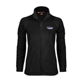 Ladies Fleece Full Zip Black Jacket-Stonehill Skyhawks