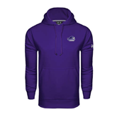 Under Armour Purple Performance Sweats Team Hood-Official Logo