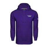 Under Armour Purple Performance Sweats Team Hood-Stonehill Skyhawks