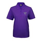 Ladies Easycare Purple Pique Polo-S