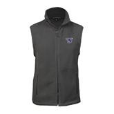 Fleece Full Zip Charcoal Vest-S
