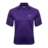 Purple Textured Saddle Shoulder Polo-S