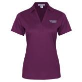 Ladies Purple Performance Fine Jacquard Polo-Stonehill Skyhawks