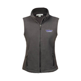 Ladies Fleece Full Zip Charcoal Vest-Stonehill Skyhawks