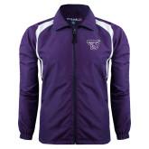Colorblock Purple/White Wind Jacket-Primary Mark