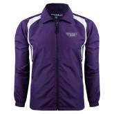 Colorblock Purple/White Wind Jacket-Stonehill Skyhawks