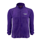 Fleece Full Zip Purple Jacket-Stonehill Skyhawks