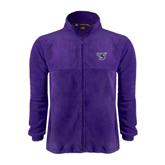 Fleece Full Zip Purple Jacket-S