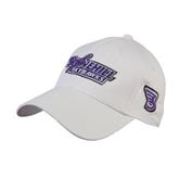 White Heavyweight Twill Pro Style Hat-Stonehill Skyhawks
