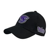 Black Heavyweight Twill Pro Style Hat-S