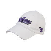 White Twill Unstructured Low Profile Hat-Stonehill Skyhawks