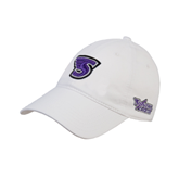 White Twill Unstructured Low Profile Hat-S
