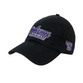 Black Twill Unstructured Low Profile Hat-Stonehill Skyhawks