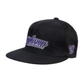 Black OttoFlex Flat Bill Pro Style Hat-Stonehill Skyhawks