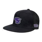 Black OttoFlex Flat Bill Pro Style Hat-S
