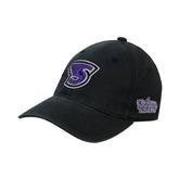 Black OttoFlex Unstructured Low Profile Hat-S