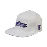 White OttoFlex Flat Bill Pro Style Hat-Stonehill Skyhawks
