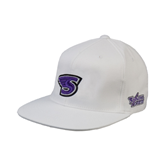 White OttoFlex Flat Bill Pro Style Hat-S