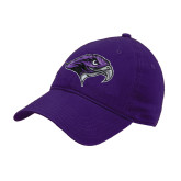 Purple Twill Unstructured Low Profile Hat-Hawkhead