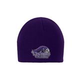 Purple Knit Beanie-Official Logo