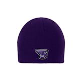 Purple Knit Beanie-S