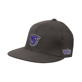 Charcoal Flexfit Flat Bill Pro Style Hat-S