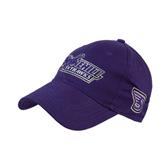 Purple Heavyweight Twill Pro Style Hat-Stonehill Skyhawks
