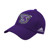 Adidas Purple Structured Adjustable Hat-Primary Mark