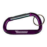 Purple Carabiner with Split Ring-Skyhawks Engraved