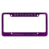 Metal Purple License Plate Frame-Skyhawks