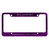 Alumni Metal Purple License Plate Frame-Alumni