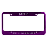Mom Metal Purple License Plate Frame-Mom