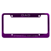 Dad Metal Purple License Plate Frame-Dad
