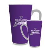Full Color Latte Mug 17oz-2017 Womens Cross Country Champions