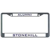 Metal License Plate Frame in Black-Alumni