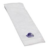 White Golf Towel-Official Logo