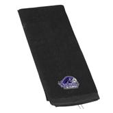 Black Golf Towel-Official Logo
