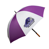 64 Inch Purple/White Umbrella-Official Logo, Logo on white panel